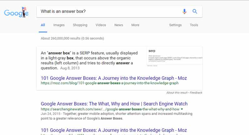 What is a Google Answer Box?