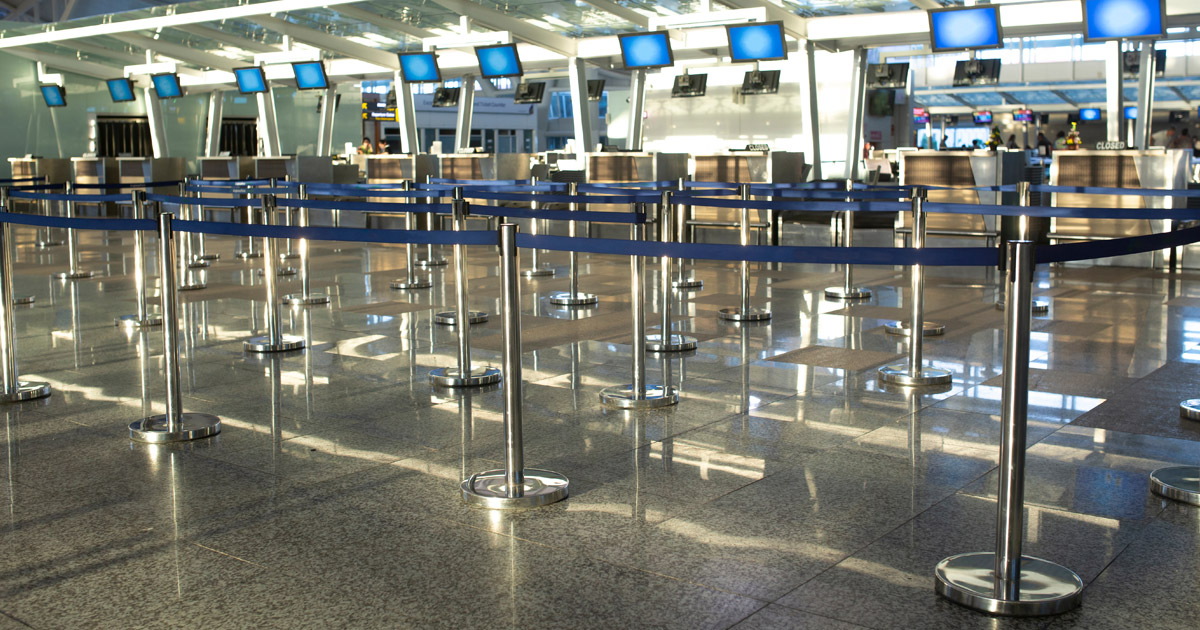 Empty Airport during the 2020 COVID-19 Pandemic